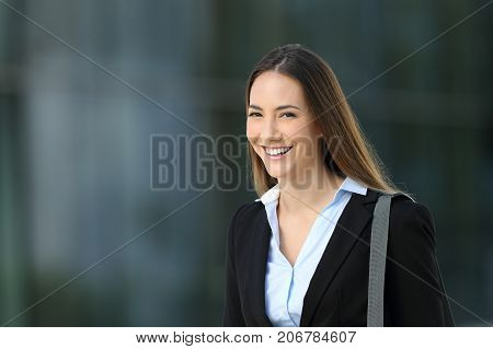 Confident Executive Looking At You On The Street