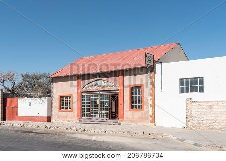 KARIBIB NAMIBIA - JULY 3 2017: The Anita Steyn Art Studio in Karibib a small town in the Erongo Region of Namibia.