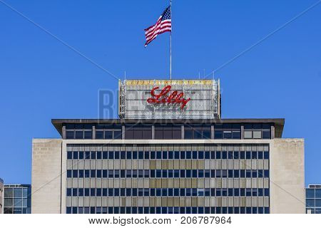 Indianapolis - Circa September 2017: Eli Lilly and Company World Headquarters. Lilly makes Medicines and Pharmaceuticals VII