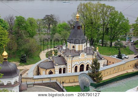 KIEV, UKRAINE - MAY 3, 2011: The Church of the Life-giving Source is a chapel on the territory of the Kiev-Pechersk Lavra.