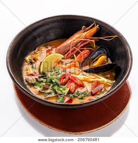 Plate Of Traditional Thai Soup