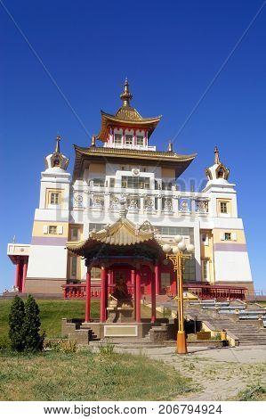 Buddhist temple Golden Abode of Buddha Shakyamuni . Elista, Republic of Kalmykia, Russia