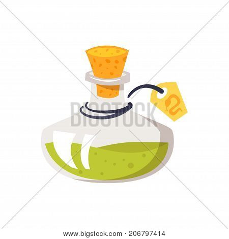 Vector cartoon illustration of potion of poison isolated on white background.