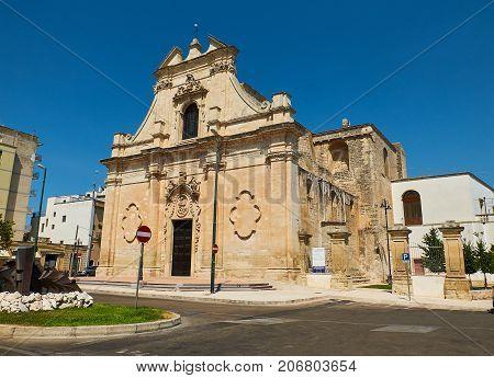 Santa Maria Delle Grazie Church. Galatina, Apulia, Italy.