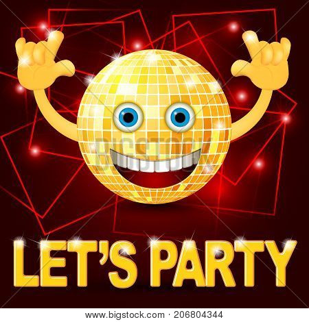 Yellow smiley emoticons, emoji, vector illustration. Party time flayer