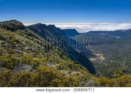 Cliffs, Piton De La Fournaise, Reunion Island