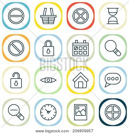 Web Icons Set. Collection Of Obstacle, Positive, Unlock And Other Elements