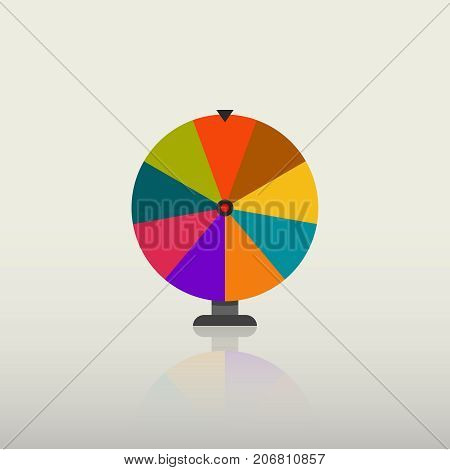 fortune wheel vector icon roulette game spin