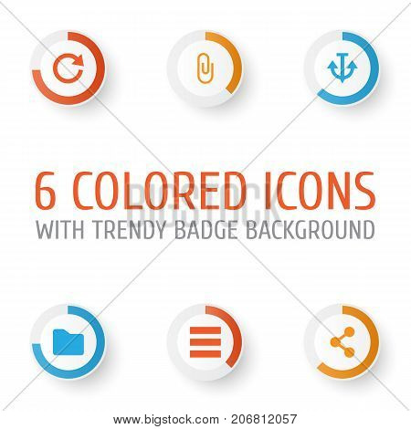 User Icons Set. Collection Of Armature, Pin, Schedule And Other Elements