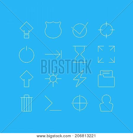 Editable Pack Of Avatar, Hourglass, Startup And Other Elements.  Vector Illustration Of 16 UI Icons.