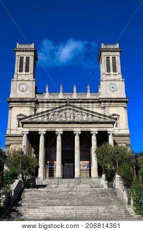 The Cathomic Saint-Vincent de Paul church n Paris, France.