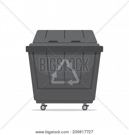trash dumpster vector illustration isolated on white background.