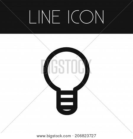 Creativity Vector Element Can Be Used For Creativity, Bulb, Imagination Design Concept.  Isolated Imagination Outline.
