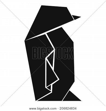 Origami penguin icon. Simple illustration of origami penguin vector icon for web