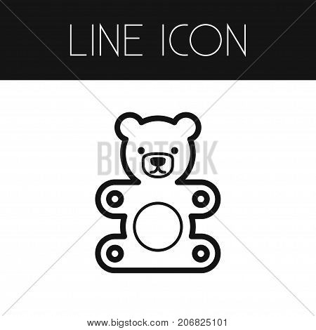Soft Vector Element Can Be Used For Gift, Teddy, Soft Design Concept.  Isolated Gift Outline.