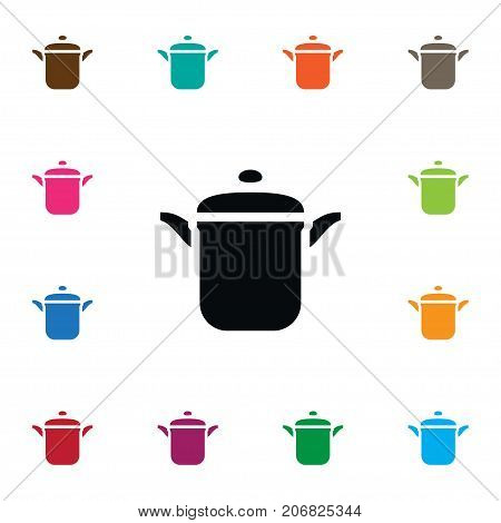 Pot Vector Element Can Be Used For Culinary, Boil, Pot Design Concept.  Isolated Culinary Icon.