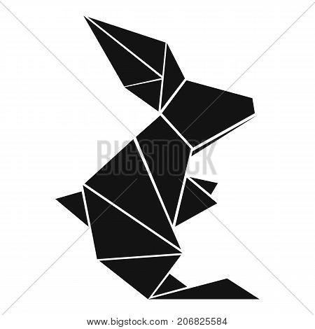 Origami rabbit icon. Simple illustration of origami rabbit vector icon for web