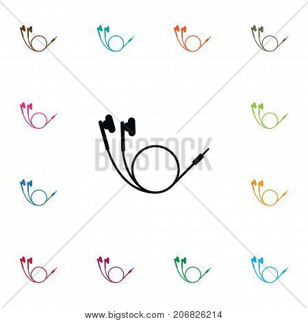 Music Vector Element Can Be Used For Music, Earphone, Headphone Design Concept.  Isolated Earphone Icon.