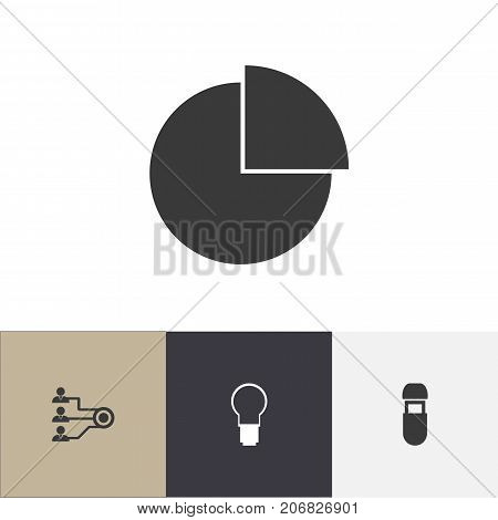 Set Of 4 Editable Bureau Icons. Includes Symbols Such As Unity, Usb, Light And More