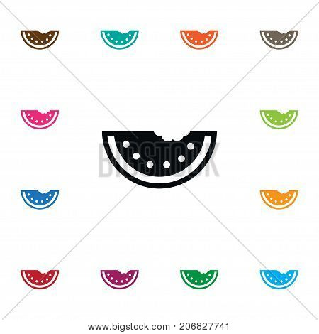 Sliced Vector Element Can Be Used For Watermelon, Sliced, Harvest Design Concept.  Isolated Watermelon Icon.