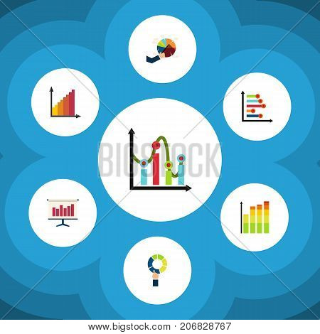 Flat Icon Chart Set Of Chart, Graph, Statistic And Other Vector Objects