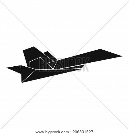 Origami airplane icon. Simple illustration of origami airplane vector icon for web
