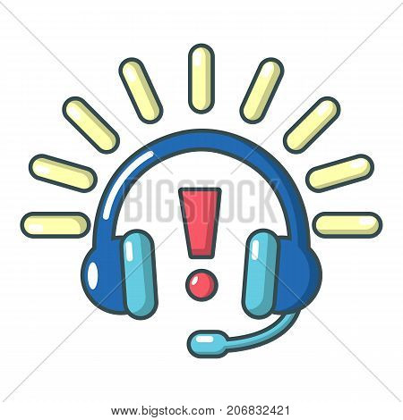 Headphones icon. Cartoon illustration of headphones vector icon for web