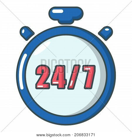 Stopwatch icon. Cartoon illustration of stopwatch vector icon for web