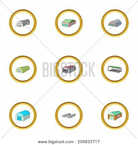 Storage icons set. cartoon style set of 9 storage vector icons for web design