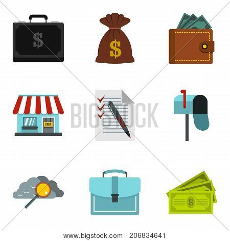 Monetary encouragement icons set. Cartoon set of 9 monetary encouragement vector icons for web isolated on white background