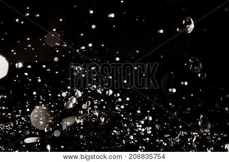 Water splash / Water is a transparent and nearly colorless chemical substance that is the main constituent of Earth's streams, lakes, and oceans, and the fluids of most living