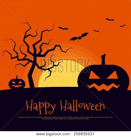Happy halloween poster template background design element can be used for backdrop publication brochure vector illustration