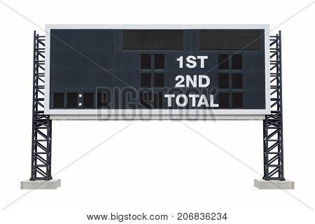Large scoreboard stadium isolated white background. with clipping path