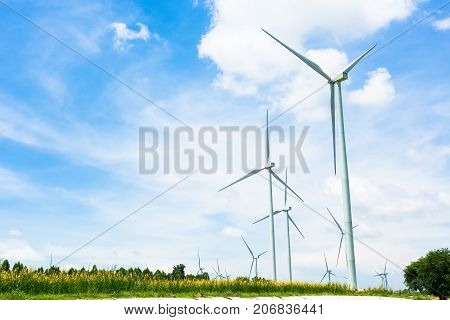 Eco power Wind Turbine on a Wind Farm.
