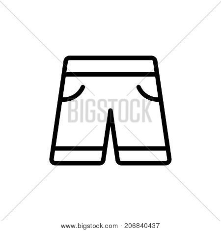 Shorts flat icon. Single high quality outline symbol of summer for web design or mobile app. Thin line signs of swiming for design logo, visit card, etc. Outline logo of beach