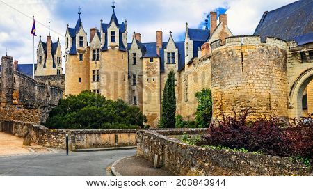 Medieval castles of Loire valley - Montreuil-Bellay. France