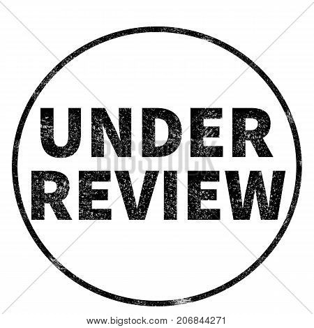 under review stamp on white background. under review sign. under review stamp.