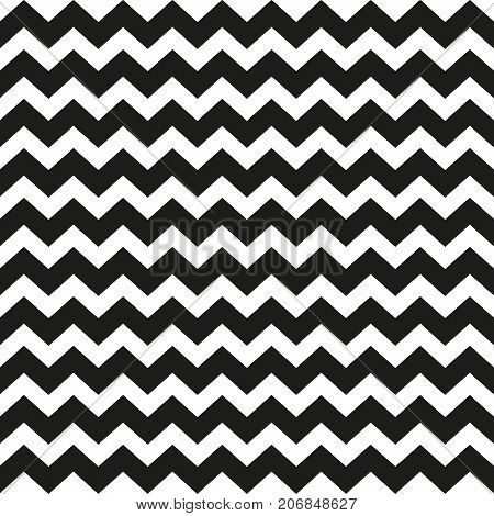 Zig zag pattern. Seamless zig zag bold line pattern. Vector illustration.
