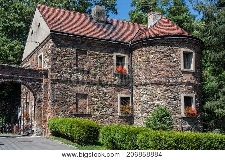 Castle in Toszek - brick building from the beginning of the 15th century. The present headquarters of the Toszeckich cultural institutions.