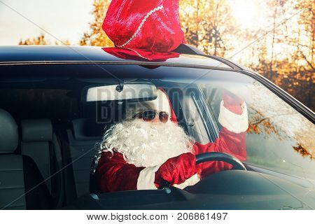 Santa Is Carrying Gifts.