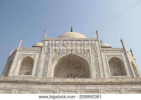 Taj Mahal Exterior Building Agra Uttar Pradesh India