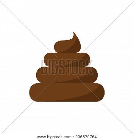 Poo Icon Isolated On White Background. Flat Style