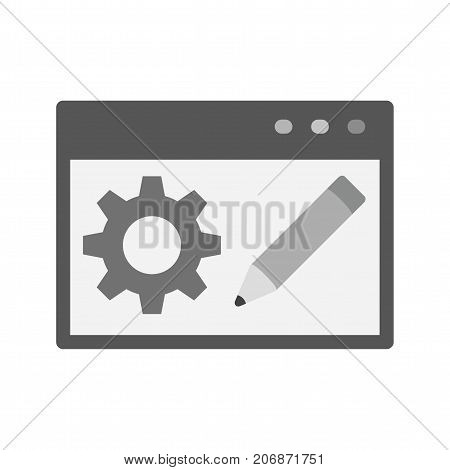 Blog, website, blogging icon vector image. Can also be used for IT Services. Suitable for use on web apps, mobile apps and print media.