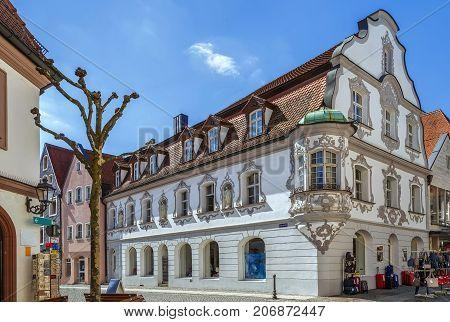 Street in Amberg historical center Bavaria Germany