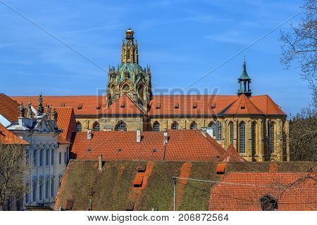 The Abbey of Kladruby is a large Benedictine monastery in Czech republic