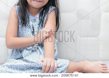 Girl Scratch The Itch With Hand