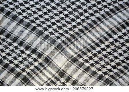 texture of black and white jersey with a pattern of crow's feet