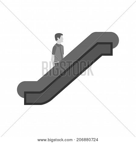 Escalator, airport, elevator icon vector image. Can also be used for airport. Suitable for mobile apps, web apps and print media.