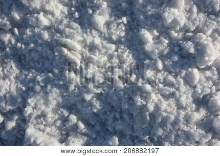 New Year's background. curly snow. small hillocks are many.