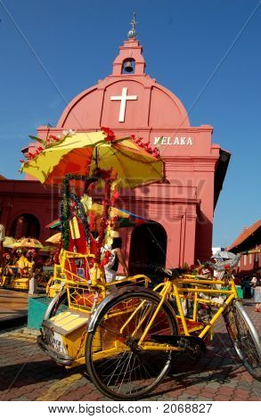 Malacca Tricycle & The Church